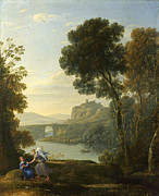 Famous Artists - Landscape with Hagar and the Angel by Claude Lorrain