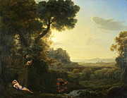 Famous Artists - Landscape with Narcissus and Echo by Claude Lorrain