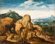 Famous Artists - Landscape with the Flight to Egypt by Cornelis Massijs