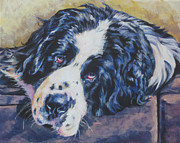 Newfoundland Art Paintings - Landseer Newfoundland Dog by Lee Ann Shepard