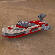 Lego Digital Art - Landspeeder on the Ground by John Hoagland