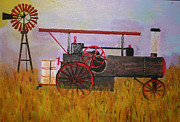 Harold Greer Art - Lane Family Steam Engine by Harold Greer