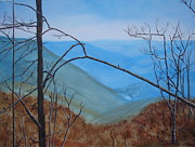 Smokey Mountains Paintings - Lane Pinnacle by Stuart Engel