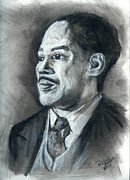 Literature Pastels Prints - Langston Hughes Print by Roger  James