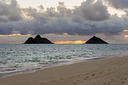 Brianharig Framed Prints - Lanikai Beach Sunrise 4 - Kailua Oahu Hawaii Framed Print by Brian Harig