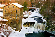 Usa Art - Lantermans Grist Mill and Bridge by Marcia Colelli