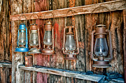Ghost Town Metal Prints - Lanterns Metal Print by Cat Connor