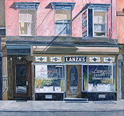 City Scenes Paintings - Lanzas Restaurant 11th Street East Village by Anthony Butera