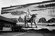 Mural Photos - Lao Tsu traditional chinese painting wall mural in chinatown Vancouver BC Canada by Joe Fox