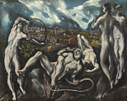 Struggle Paintings - Laocoon by Domenico Theotocopuli El Greco