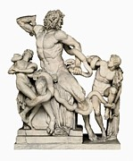 Youthful Framed Prints - Laocoon With His Sons. 1st C. Bc Framed Print by Everett