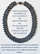 Blue Jewelry - Lapis Lazuli Gemstone Necklace by Jennie Breeze
