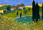 Tuscan Hills Paintings - Larazzo by Seonaid  Ross