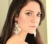 Perspex Jewelry Jewelry - Large Exclusive Victorian Lace Earrings by Rony Bank