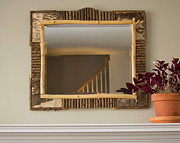 Swiss Mixed Media Originals - Large Mantle Mirror by Jim Caufield