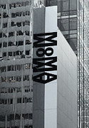 New York City Photo Originals - Large MoMA Banner on Mirrored Exterior Wall of the Museum by Robert Englebright