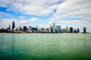 Architecture Metal Prints - Large Picture of Downtown Chicago Skyline Metal Print by Paul Velgos