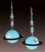 Planets Jewelry - Large Planets by Barbara Lager