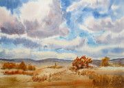 Fall Grass Posters - Large Prairie Sky Poster by Mohamed Hirji