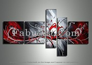 FabuArt - Large Red Abstract...