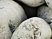 Stones Digital Art Originals - Large Stones by Laszlo Slezak