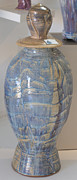 Featured Ceramics Originals - Large Tortoise Vase with Lid by Mark Epstein