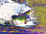 School Of Fish Digital Art - Largemouth Bass p68 by Wingsdomain Art and Photography