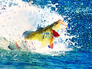 Fishermen Digital Art - Largemouth Bass - Painterly by Wingsdomain Art and Photography