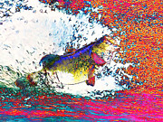 Largemouth Digital Art Posters - Largemouth Bass Poster by Wingsdomain Art and Photography