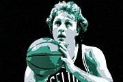 Larry Bird Poster Art Print by Florian Rodarte