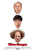 Distress Posters - Larry Moe and Curly Poster by The Three Stooges Movie