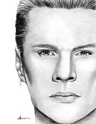 Music Drawings Prints - Larry Mullen Jr. Print by Kayleigh Semeniuk