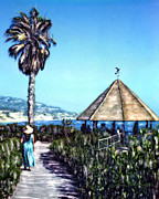 The Hills Mixed Media Originals - Las Brisas Gazebo by Glenn McNary