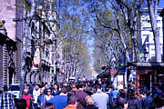 Fuits Framed Prints - Las Ramblas - Barcelona Spain Framed Print by Jon Berghoff