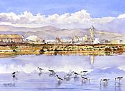 Las Salinas De Cabo De Gata Print by Margaret Merry