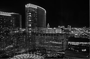 Las Vegas At Night 2012 V2 Print by Joseph Duba