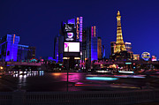 The Strip Framed Prints - Las Vegas Blues Framed Print by John Rizzuto
