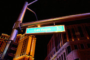 Bill Alexander Digital Art - Las Vegas Blvd in Las Vegas Nevada. by Bill Alexander