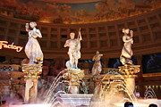 Statue Prints - Las Vegas - Caesars Palace - 121214 Print by DC Photographer