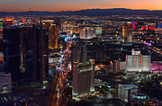 Las Vegas Prints - Las Vegas From The Stratosphere Print by Eddie Yerkish