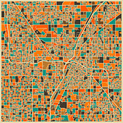 City Map Art - Las Vegas by Jazzberry Blue