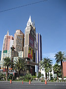 Buildings Metal Prints - Las Vegas - New York New York Casino - 12126 Metal Print by DC Photographer