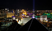 Tropicana Las Vegas Prints - Las Vegas Night Pano Print by Jim Robbins