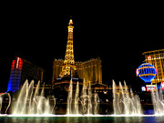 Reflective Water Photos - Las Vegas - Paris Hotel and Casino 001 by Lance Vaughn