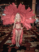 Showgirl Photo Prints - Las Vegas Showgirl Print by Edward Fielding