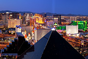 Vegas Framed Prints - Las Vegas Skyline Framed Print by Brian Jannsen
