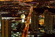 Bill Alexander Framed Prints - Las Vegas Strip Framed Print by Bill Alexander