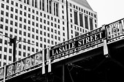 Lasalle Street Framed Prints - LaSalle Street Bridge Framed Print by Lauri Novak