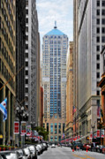 Lasalle Framed Prints - LaSalle Street Chicago - Wall Street of the Midwest Framed Print by Christine Till