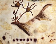 Primitive Drawings - Lascaux by Angie Brown